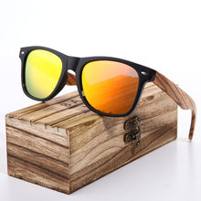 Load image into Gallery viewer, Hand Made Wooden Frame Sunglasses