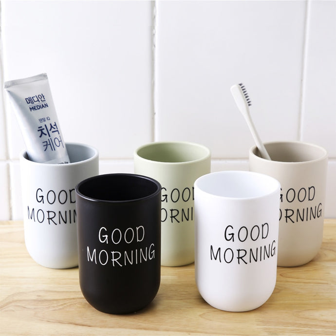 Good Morning Toothbrush Holder
