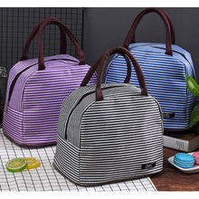 Load image into Gallery viewer, Striped Portable Insulated Handbags
