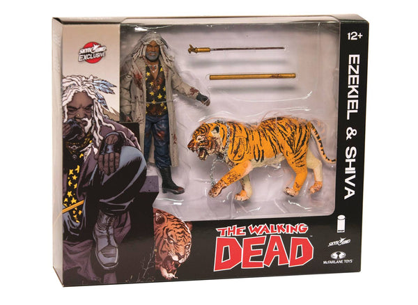 WALKING DEAD EZEKIEL & SHIVA ALL OUT WAR AF 2-PACK (BLOODY)
