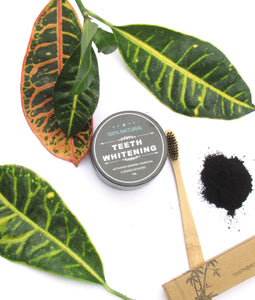 Activated Charcoal Teeth Whitening Powder + FREE bamboo toothbrush