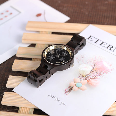 Snowflake Ebony Watch