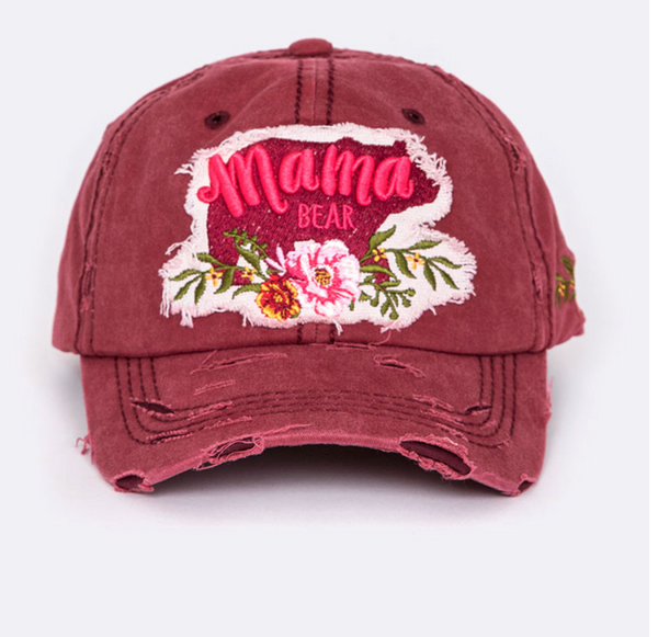 Mama Bear Distressed Cap