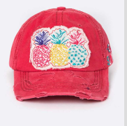 Pineapple Distressed Cap