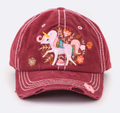 Unicorn Distressed Ball Cap