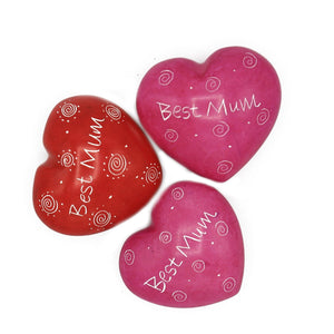Soapstone Message Hearts - Best Mum - The Ethical Gift Box