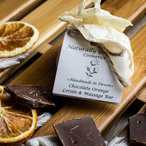Chocolate Orange Scented Luxurious Natural Massage & Lotion Bar (55g)
