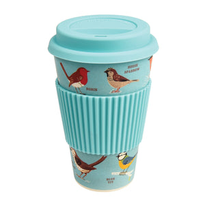 Garden Birds Bamboo Travel Mug - The Ethical Gift Box