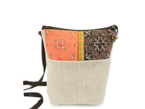 Ladies Hmong Motif Crossbody Bag - The Ethical Gift Box