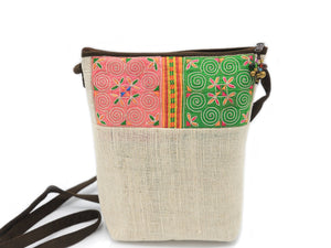 Ladies Hmong Motif Crossbody Bag