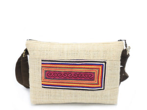 Ladies Hmong Motif Hemp Bag - The Ethical Gift Box