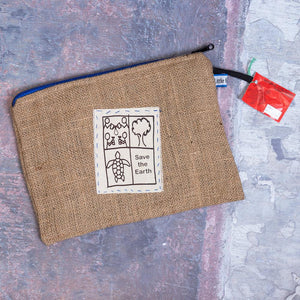 Tech Recycled Jute Coffee Bag Carry Case