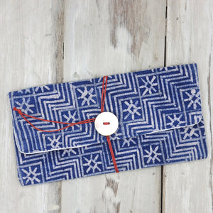 Indigo Dye Clutch Bag