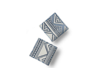 Block Print Coasters - Set of 2 - The Ethical Gift Box
