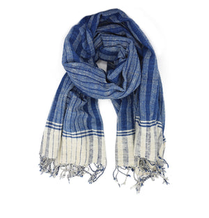 Hand Spun Cotton Shawl #1 - The Ethical Gift Box