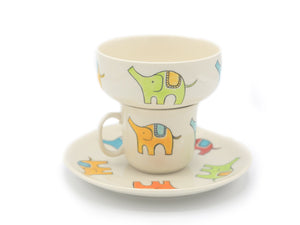 Kids 3pc Elephant Breakfast Set - The Ethical Gift Box