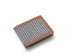 Mens Handloomed Fabric & Leather Wallet