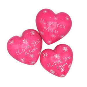 Soapstone Message Hearts - I Love You Mum