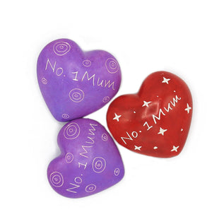 Soapstone Message Hearts - No. 1 Mum - The Ethical Gift Box