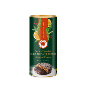 Traidcraft Dark Chocolate Coated Chocolate Chip & Orange Biscuits (200g)