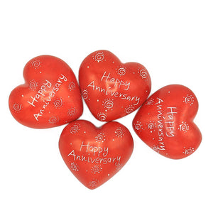 Soapstone Message Hearts - Happy Anniversary