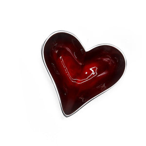 Small Recycled Aluminium Heart Dish - The Ethical Gift Box