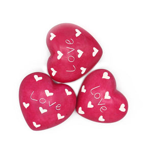 Soapstone Message Hearts - Love