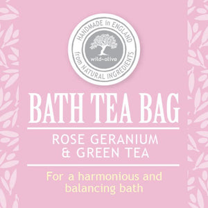 Rose, Geranium & Green Tea Bath Tea Bag - The Ethical Gift Box