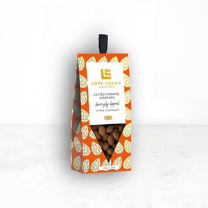 Salted Caramel Almonds Dipped In Milk Chocolate