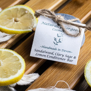 Sandalwood, Clary, Sage & Lemon Conditioner Bar 50g