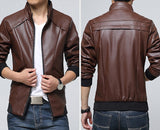 High Quality PU Leather Jacket for Men