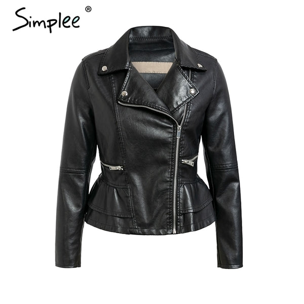 Ladies' Fashion Leather Jacket - Pugz n Stuff