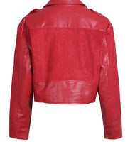 Sexy Red Womens Leather Jacket - Free Shipping