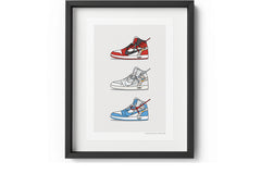 KickPoster - Triple Off-White Jordan 1