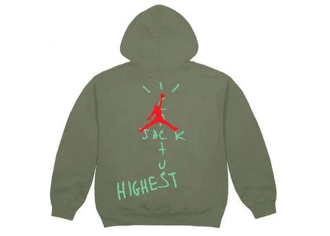 "Travis Scott x Jordan Highest in the Room Hoodie ""Olive"""
