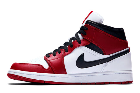 "Jordan 1 Mid ""Chicago White Heel"""