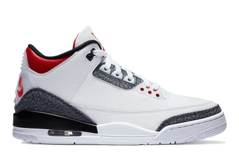 "Jordan 3 Retro ""Fire Red Denim"""