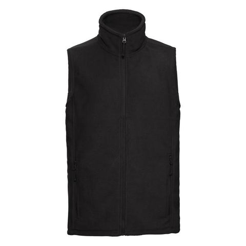 Russell Outdoor fleece gilet in Black - 121 Workwear - Personalised Workwear