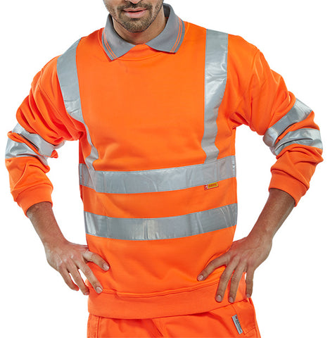 Sweatshirt Orange Hi Viz