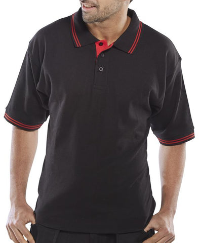 Pk Shirt 2Tone Black/Red