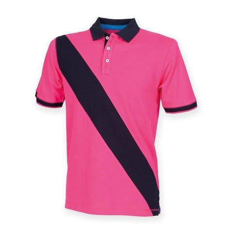 Front Row Diagonal stripe piquǸ polo shirt in  - 121 Workwear - Personalised Workwear