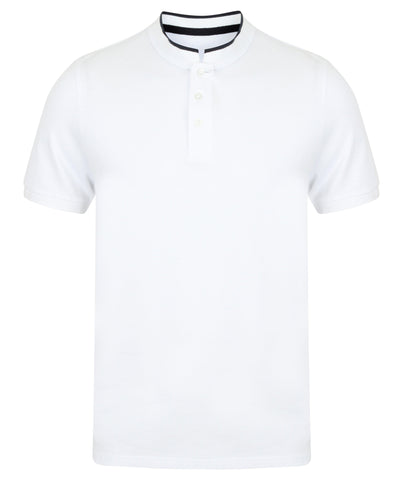Stand collar stretch polo shirt