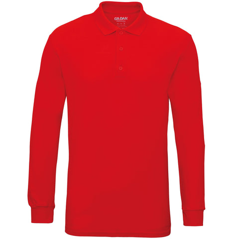 Gildan Gildan Premium cotton long sleeve double piqué polo in 2XL - 121 Workwear - Personalised Workwear