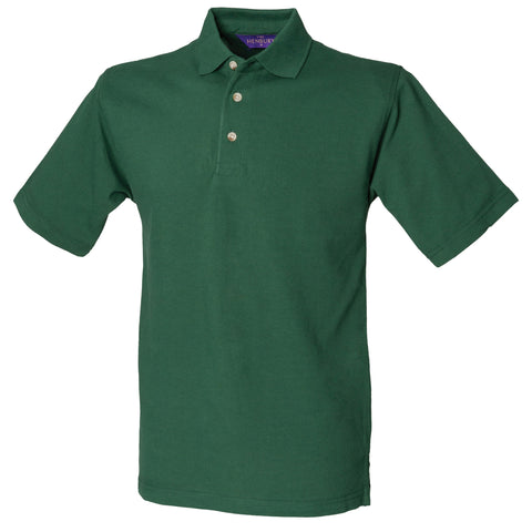 Henbury Classic cotton pique polo with stand-up collar