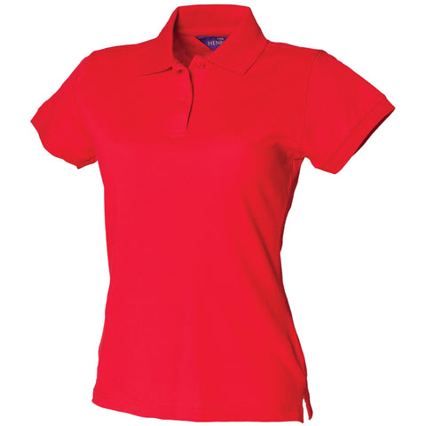 Henbury Women's stretch pique polo shirt
