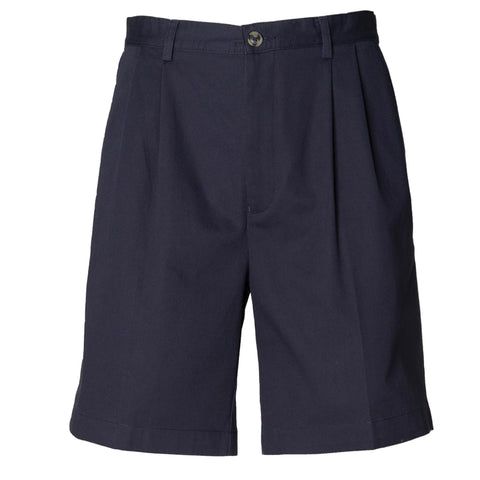 Henbury Teflon-coated double pleat front chino shorts