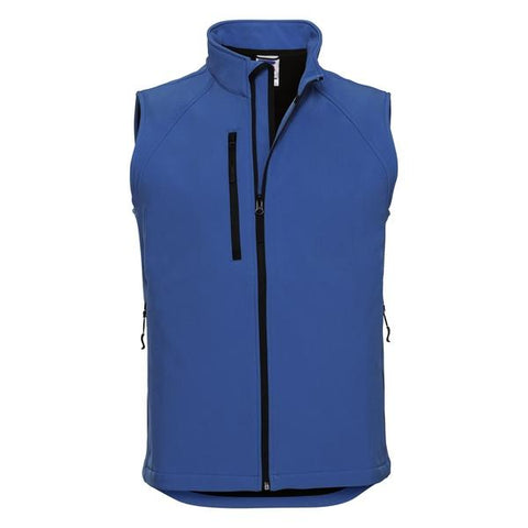 Russell Softshell gilet in Azure Blue - 121 Workwear - Personalised Workwear