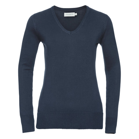 Russell Women's v-neck knitted sweater