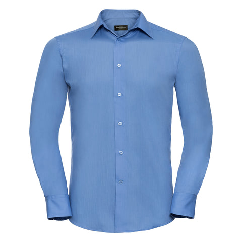 Russell Long sleeve polycotton easycare fitted poplin shirt