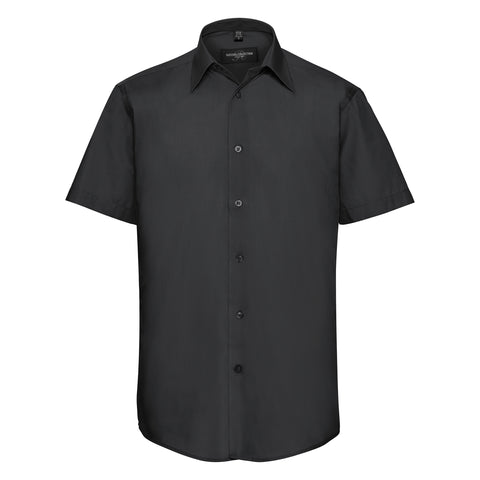 Short sleeve polycotton easycare tailored poplin shirt
